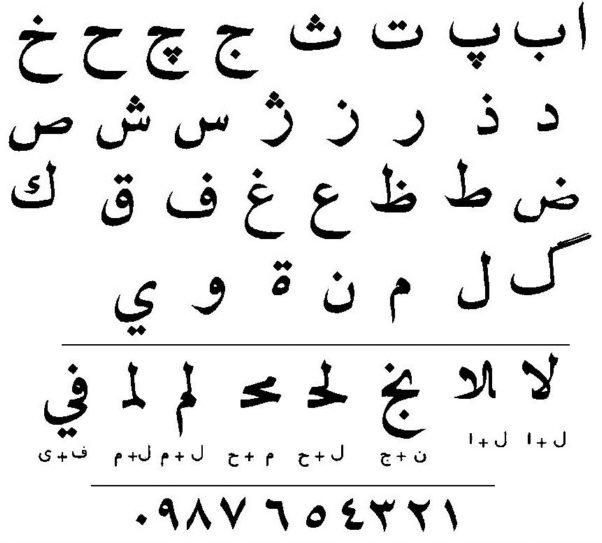 arabische schriftzeichen alphabet
